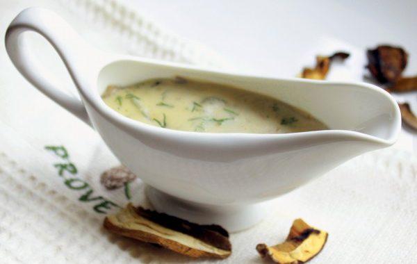 Белый грибной соус – рецепт