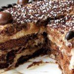 Шоколадно банановый торт - рецепт