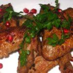 Жареная курица в гранатовом соке