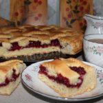 Пирог с малиной рецепт приготовления