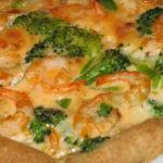 Пирог с креветками и брокколи рецепт