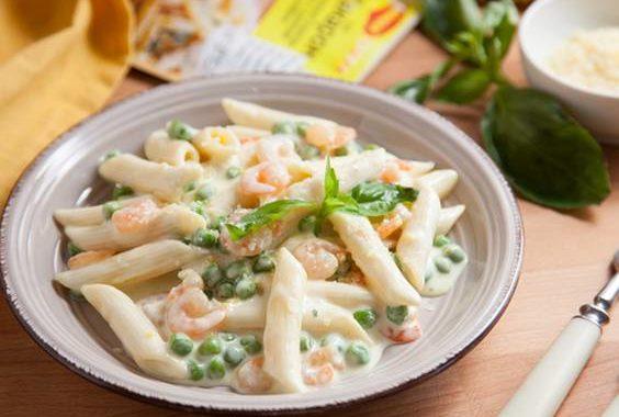 Тыквенный соус с креветками для макарон