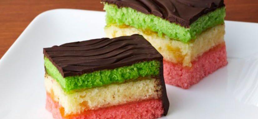 Вкусные и красивые пирожные «Радуга»
