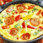 Фриттата с овощами и сыром рецепт