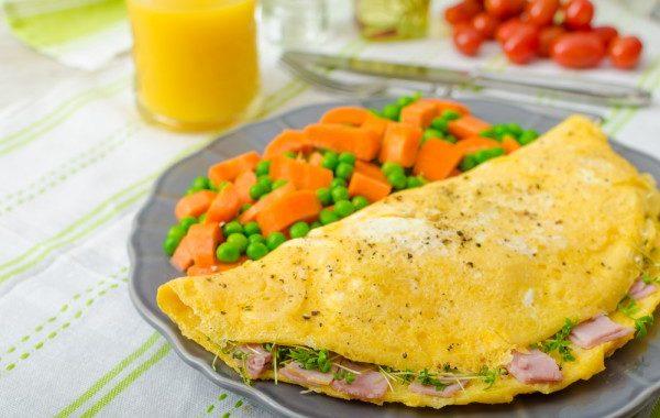 Омлет с ветчиной и сыром рецепт