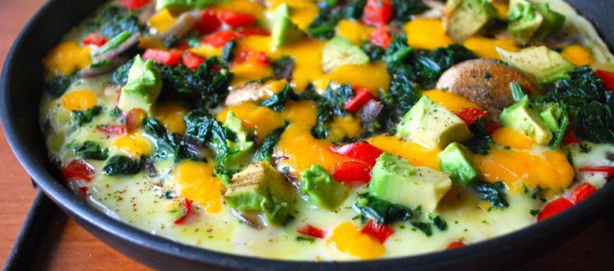 Омлет с брокколи и грибами рецепт
