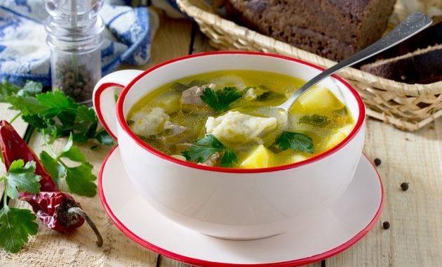 Суп из баранины с катыком