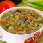 Суп с овощами и бараниной в мультиварке