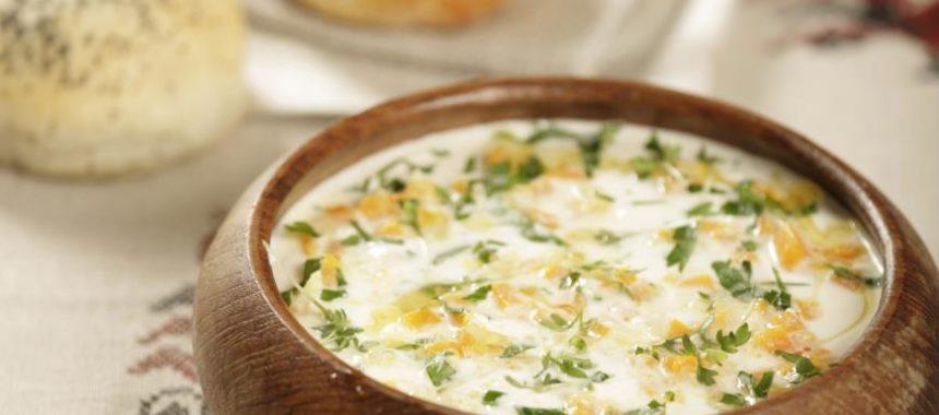 Сырный суп со сладким перцем
