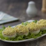 Яйца, фаршированные тунцом рецепт