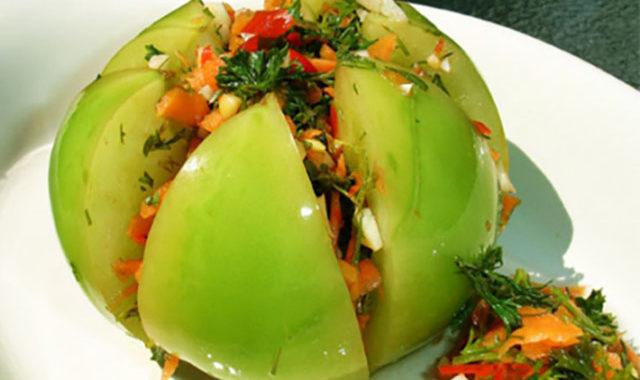 Соленые зеленые помидоры рецепт