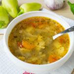 Суп с вермишелью и болгарским перцем