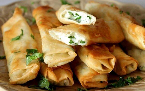 Трубочки с сыром и зеленью рецепт