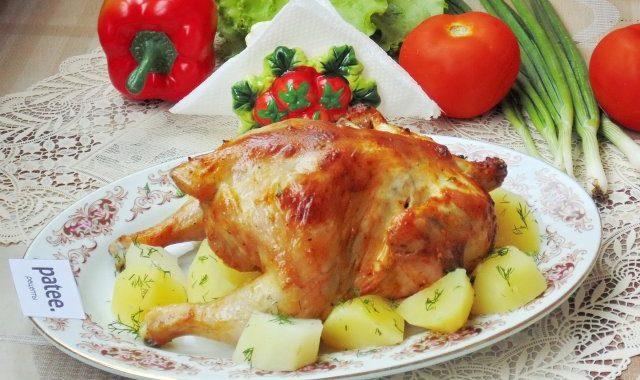 Курица, запеченная по-французски