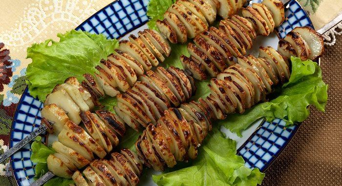 Картофель на мангале рецепт