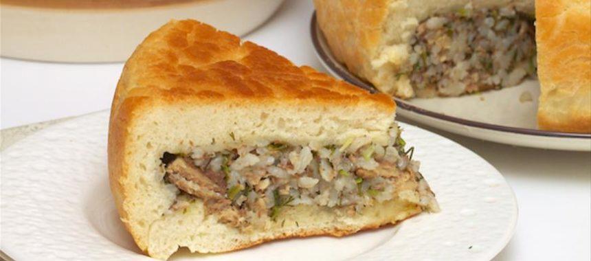 Пирог с рыбой рецепт приготовления