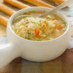 Овощной суп с рыбой для детей
