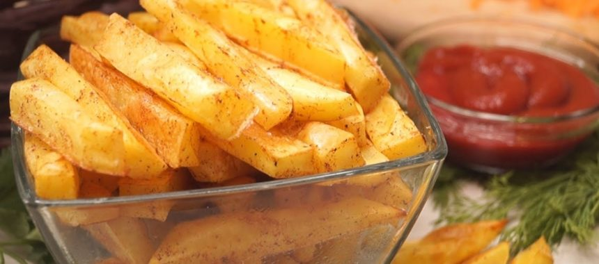 Картофель фри без масла рецепт
