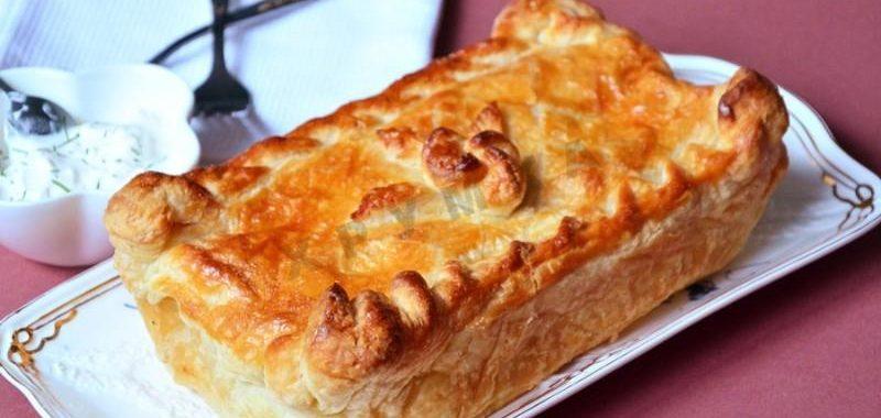 Пирог с лососем рецепт приготовления