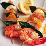 Шашлык из рыбы с креветками рецепт