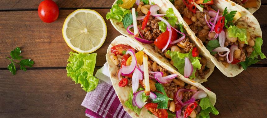 Тако с мясом и овощами рецепт