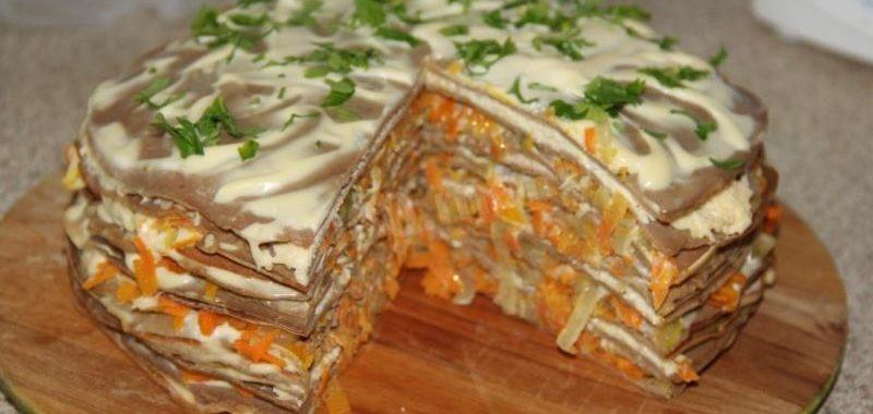 Печеночный торт из куриной печени рецепты