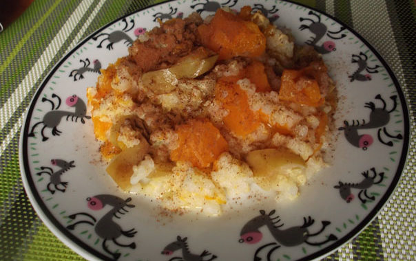 Тыквенная каша с апельсином рецепт
