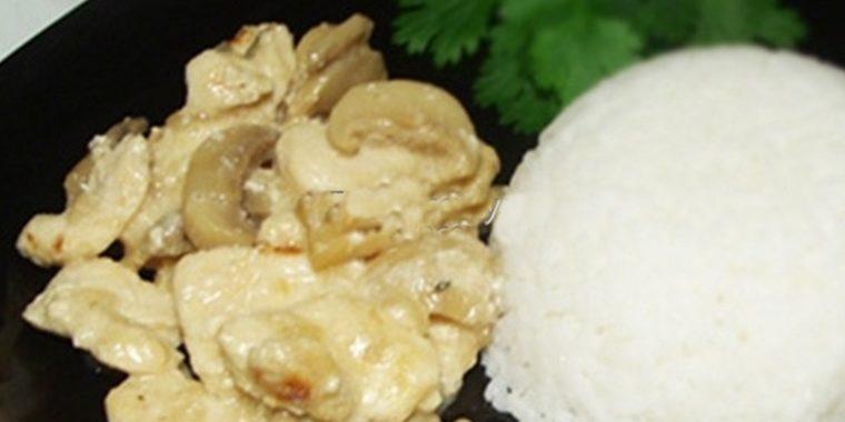 Фрикасе из курицы с грибами рецепт