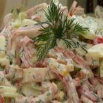 Салат с ветчиной «Весенний» рецепт приготовления