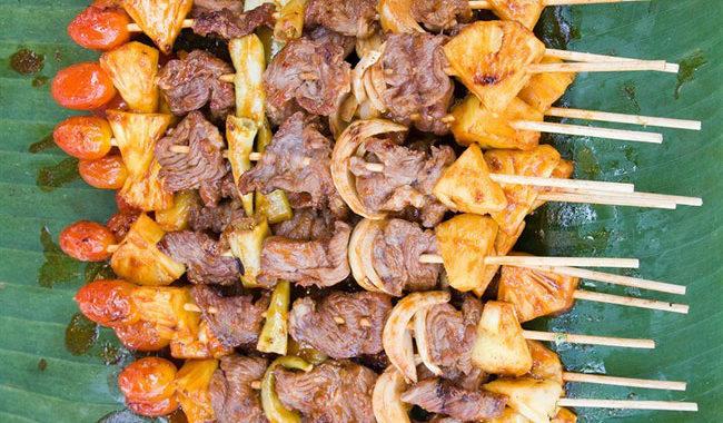 Свиной шашлык с ананасами рецепт