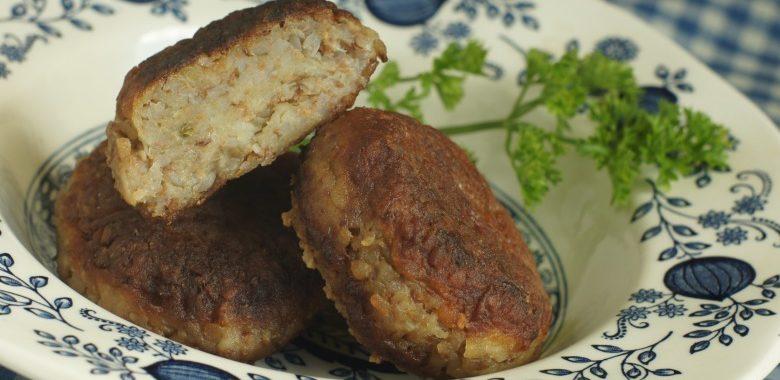 Вегетарианские котлетки с гречкой и картофелем