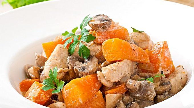 Курица с тыквой и грибами рецепт приготовления