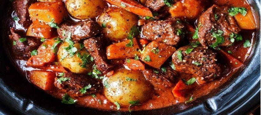 Мясо в красном вине рецепт