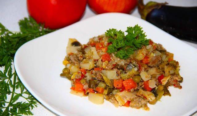 Рагу из кабачков с фаршем рецепт