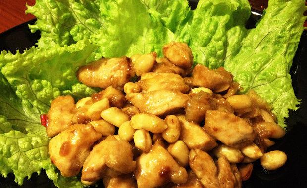 Куриная грудка с арахисом рецепт