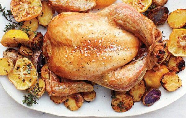 Запеченная Курица с лимоном и розмарином рецепт