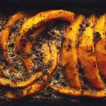 Запеченная тыква с соусом из белых грибов рецепт с фото
