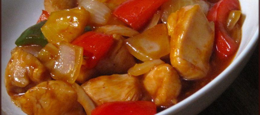 Куриное филе с кисло-сладким соусом рецепт