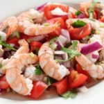 Лёгкий салат с креветками к ужину рецепт