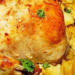 Запеченная курица с картофелем в духовке рецепт