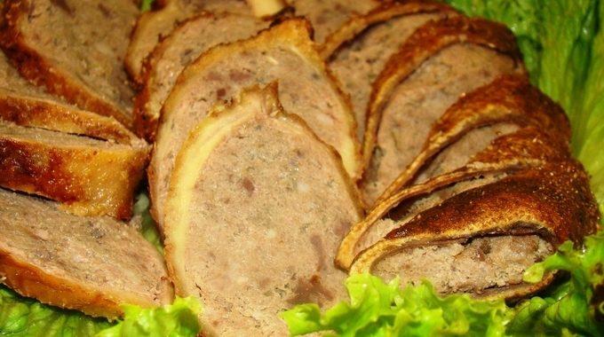 Фаршированная гусиная шейка рецепт приготовления