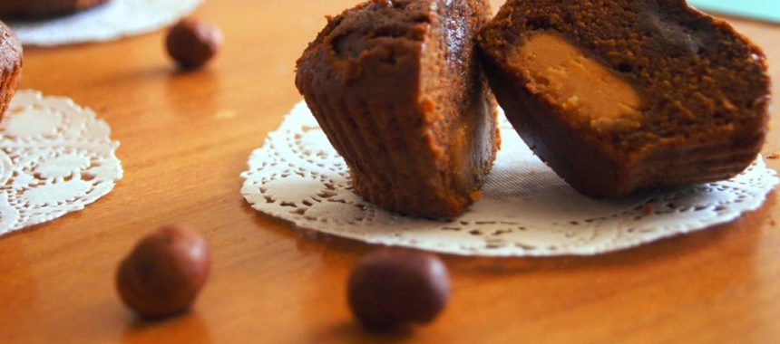 Кексы в формочках с арахисовым маслом рецепт