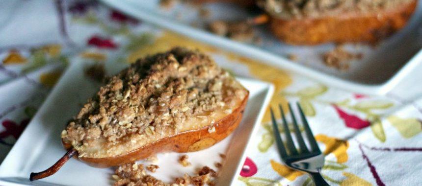 Фаршированные груши с начинкой из сыра и орехов рецепт