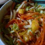 Капустно-морковный салат с манго рецепт