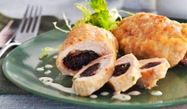 Роллы из индейки с черносливом рецепт приготовления