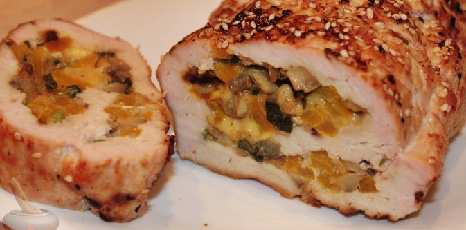 Рулет из индейки с сыром рецепт приготовления