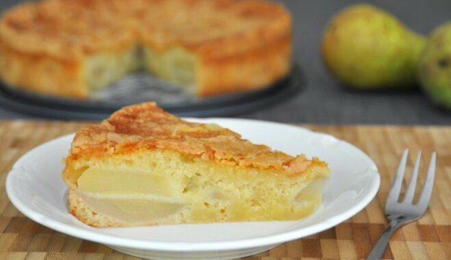 Пирог с грушами и миндалем в духовке рецепт приготовления
