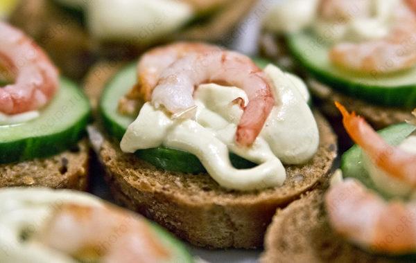 Бутерброды с креветками рецепт приготовления