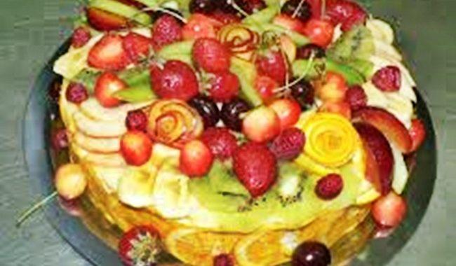 """Торт со сливой и лимонным соком """"Сладкая сказка"""" рецепт"""