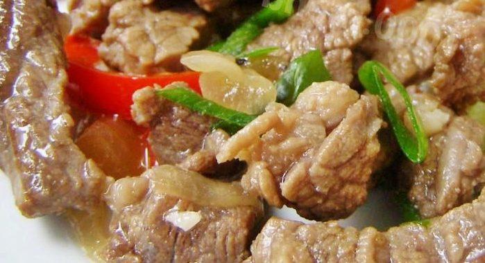 Говядина тушеная с овощами в соевом соусе на сковороде рецепт
